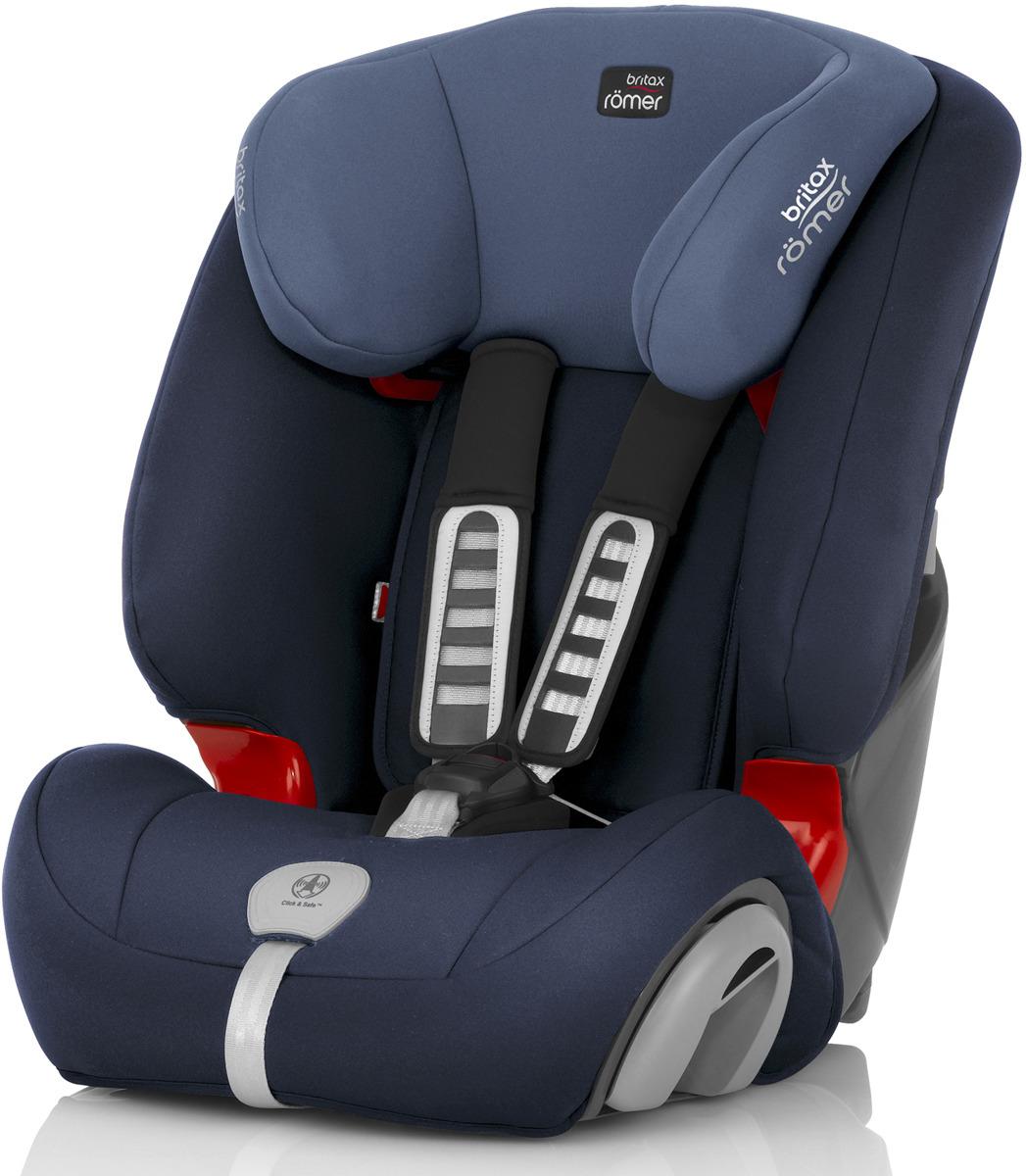 Автокресло детское Britax Roemer Evolva 123 Plus Moonlight Blue Trendline от 9 до 36 кг, 2000027860, синий2000027860Evolva 1-2-3 plus - это новое эргономичное кресло, подстраиваемое под потребности ребенка по мере его роста (его можно использовать для пассажиров от 9 месяцев и для подросшего 12 летнего ребенка) Детское автокресло Evolva 1-2-3 plus оснащено механизмом крепления ремня Click & Safe™ со звуковой сигнализацией, помогающим при размещении ребенка в кресле и обеспечивающим правильное натяжение ремня.Боковины кресла регулируются по ширине; регулируемая по высоте спинка-подголовник;система Comfi-Flex, состоящая из нескольких слоев мягкой воздухопроницаемой ткани, набивки и поропласта, создаёт условия повышенной комфортности при использовании кресла;система Comfi-Cool, состоящая из мягкой прочной сеточной воздухопроницаемой ткани, исключающей любое присутствие влаги.