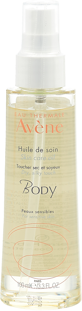 Масло косметическое Avene Body, для тела, лица и волос, 100 мл