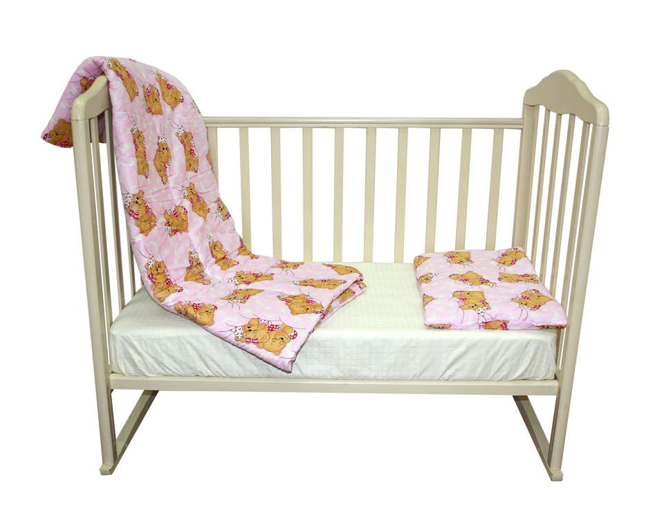 Комплект: одеяло 110х140 см. + подушка 40х60 см., Soft Story Мишки в облаках