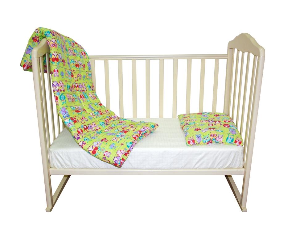Комплект одеяло 110х140 см. + подушка 40х60 см., Soft Story Совушки одеяло vikalex бязь холлофайбер 110х140 серый с бантиками vi21104