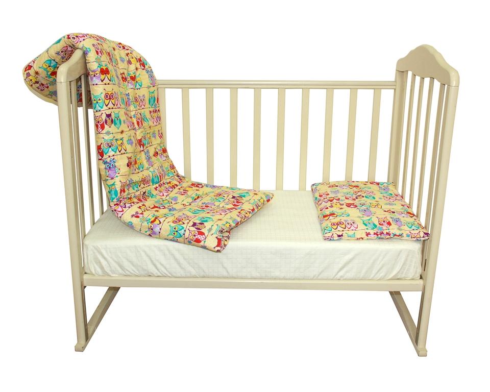 Комплект Одеяло 110*140см. + подушка 40*60 см., Soft Story5025051685/4Бязь-хлопок 100%, наполнитель-полиэфир, дизайн Совушки. Цвет бежевый. Размер :110х140 - 1шт, 40х60-1шт