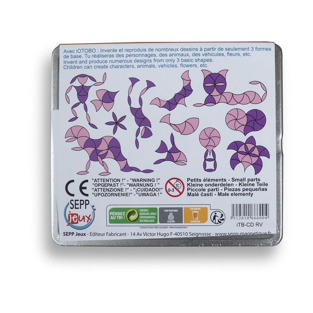 Магнитная мозаика-головоломка IOTOBO. Оранж/Бордо CD-формат