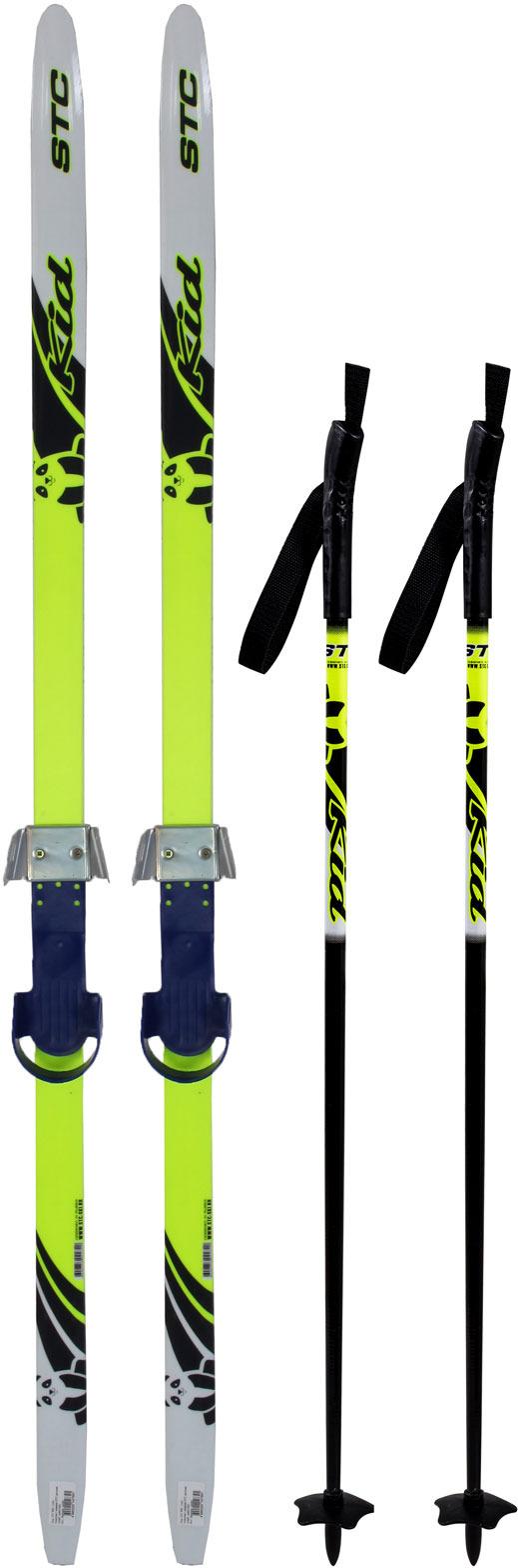 Комплект лыжный детский STC Set/Combi с универсальными креплениями и палками, 120 см