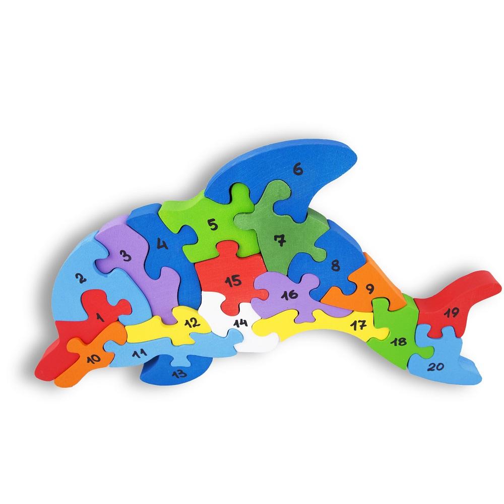 Деревянный пазл Стеша Большой Дельфин. Со счетом до 20