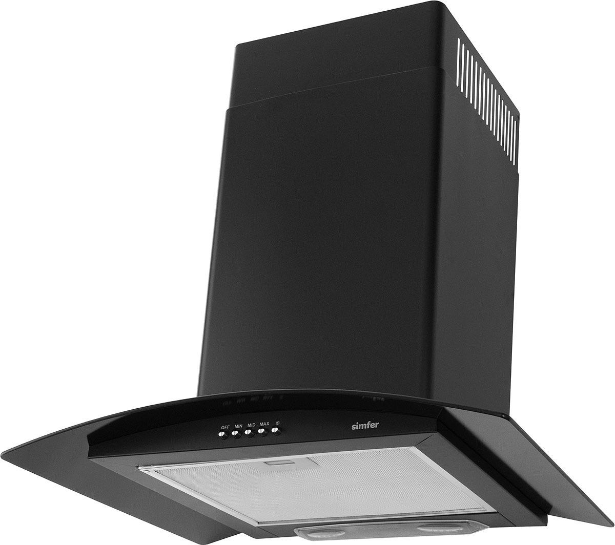 лучшая цена Вытяжка настенная Simfer 8631 SM, цвет: черный