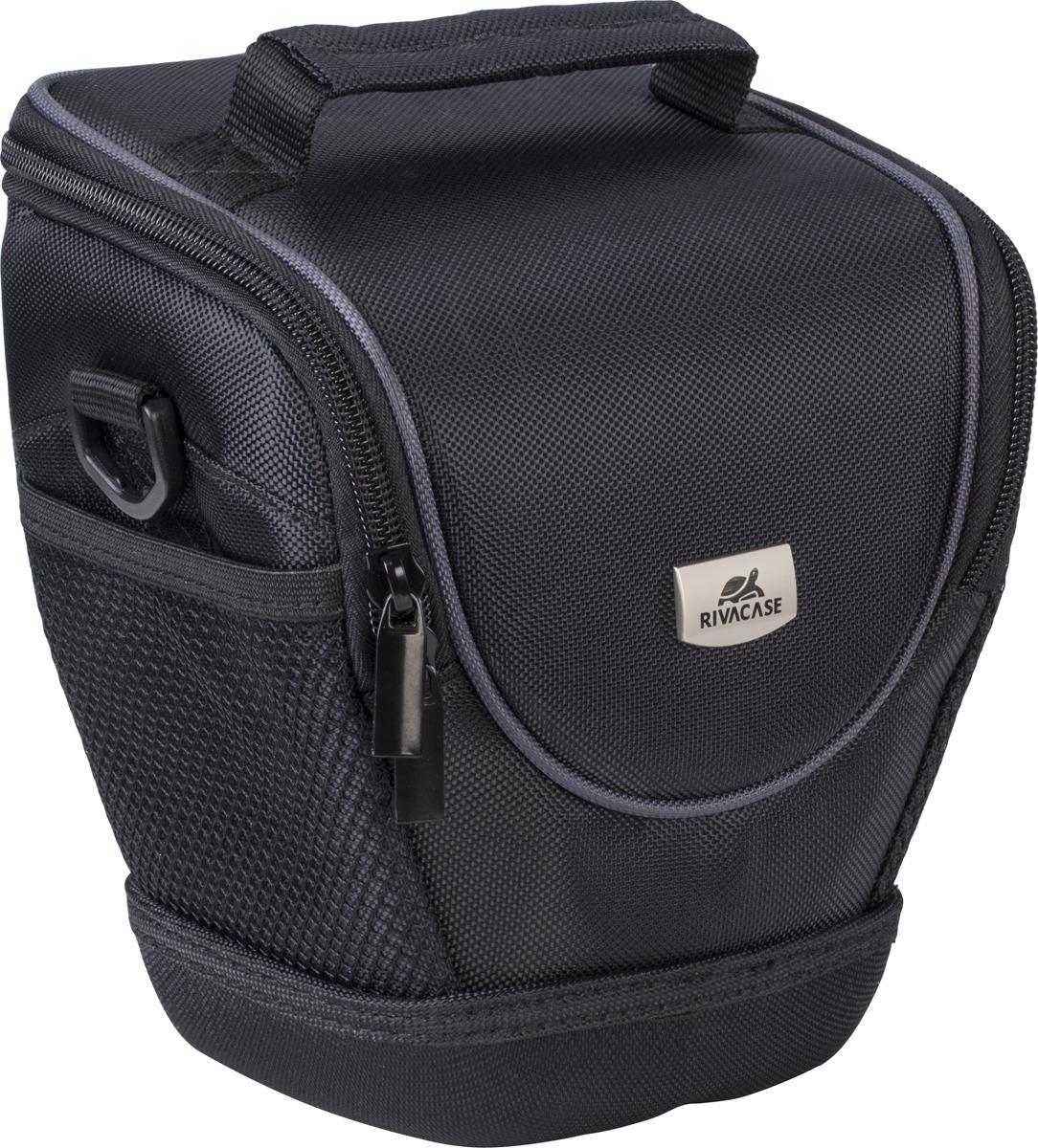 Сумка для фотоаппарата RivaCase 7205A-01 (PS) Digital Case Black rivacase 7630 slr case pro black сумка для зеркальной фотокамеры