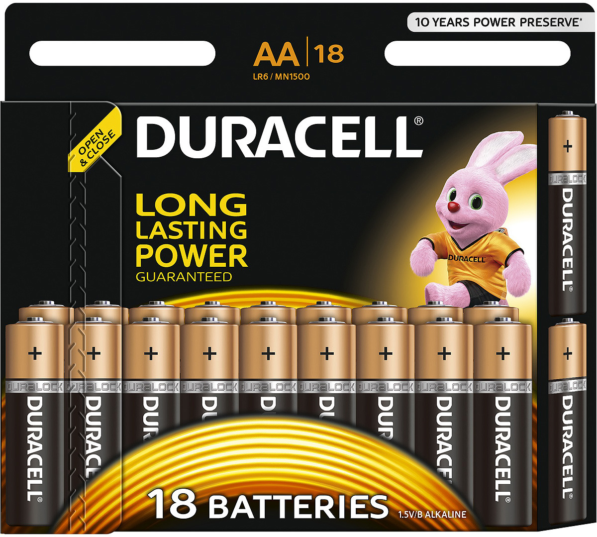 Набор щелочных батареек Duracell Basic, тип АА, 18 шт батарейки duracell аа lr6 2bl basic cn 2 шт
