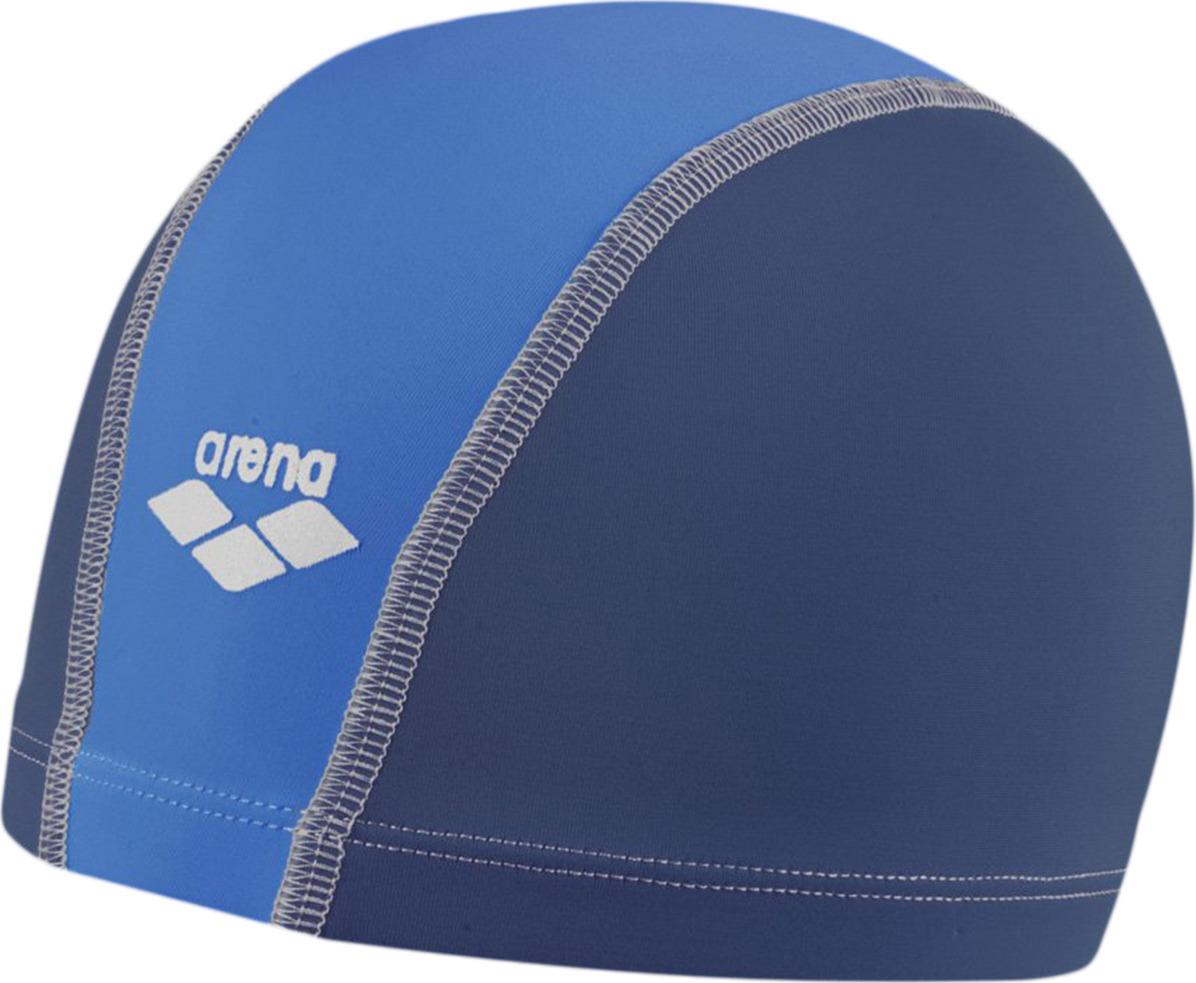 Шапочка для плавания детская Arena Unix Jr, цвет: деним, голубой. 91279 2391279 23Шапочка для плавания Unix JR - это детская шапочка для активного отдыха из текстильного материала от всемирно известного бренда Arena. Она очень легкая, так как сделана из полиамида, и не холодит голову, как силиконовые шапочки. Благодаря трехпанельной эргономичной форме ее легко надевать, при этом шапочка будет плотно держаться на голове, не спадая и не съезжая на глаза.