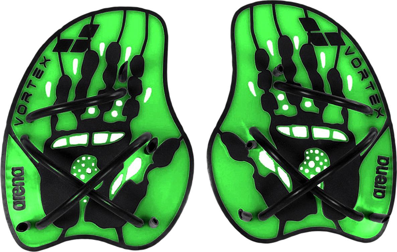 Лопатки для гребли Arena Vortex Evolution Hand Paddle, цвет: зеленый, черный. Размер L. 95232 65 m l bladd arena