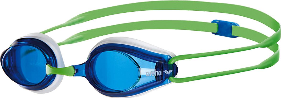 Очки для плавания Arena Tracks, цвет: зеленый, синий. 92341 67 arena импортные плавательные очки противотуманные большие рамочные очки водонепроницаемые