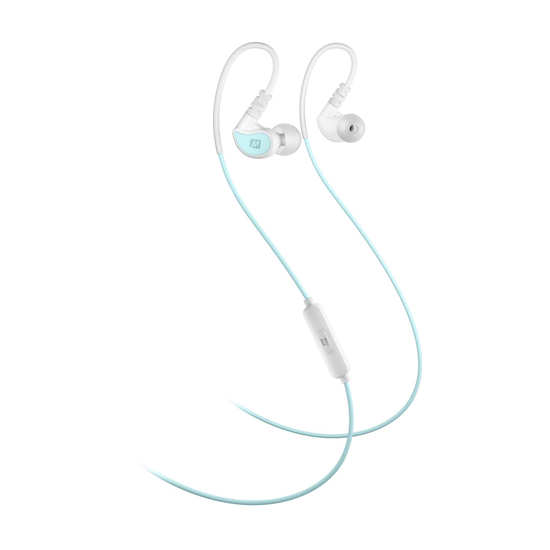 лучшая цена Наушники MEE Audio X1 спортивные с микрофоном и управлением, X1-MTWT, белый, синий