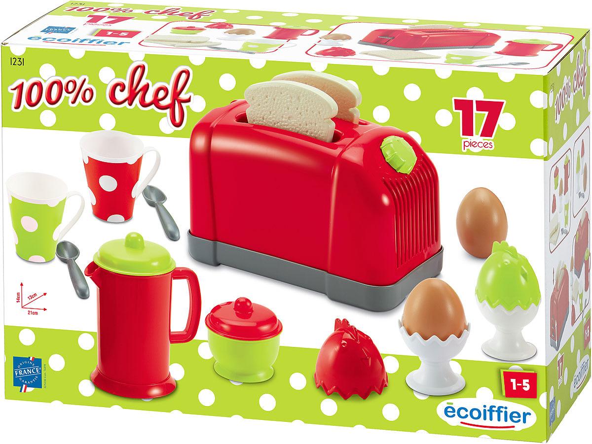 Сюжетно-ролевые игрушки Ecoiffier Chef. Тостер игра ecoiffier chef набор посуды с сушилкой 2619