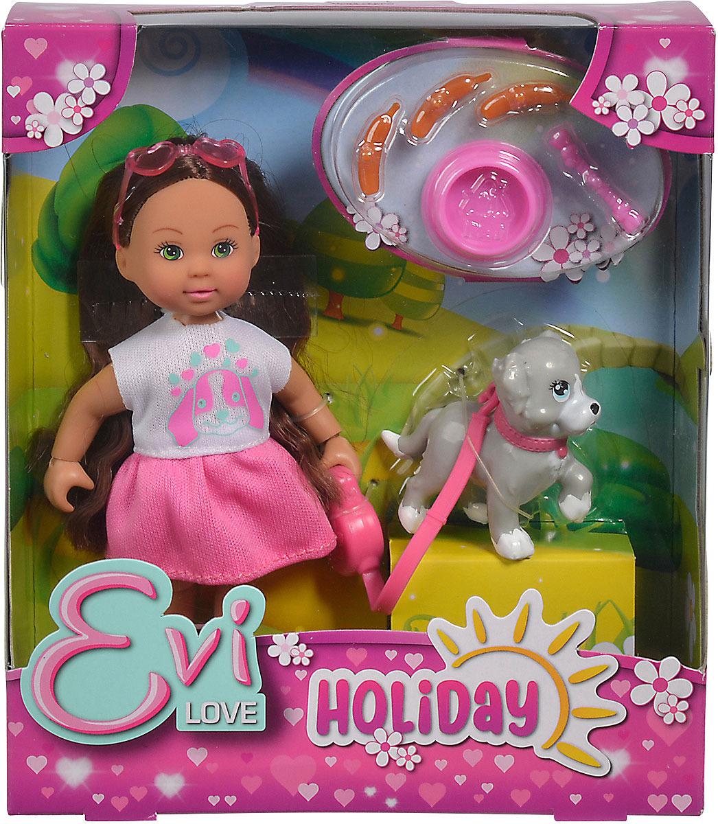 Мини-кукла Simba Holiday. Еви кукла еви со стильной собачкой