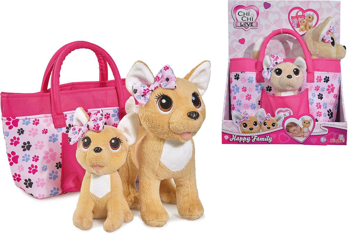 Мягкая игрушка Simba Chi-Chi love. Плюшевые собачки. Счасливая семья цена