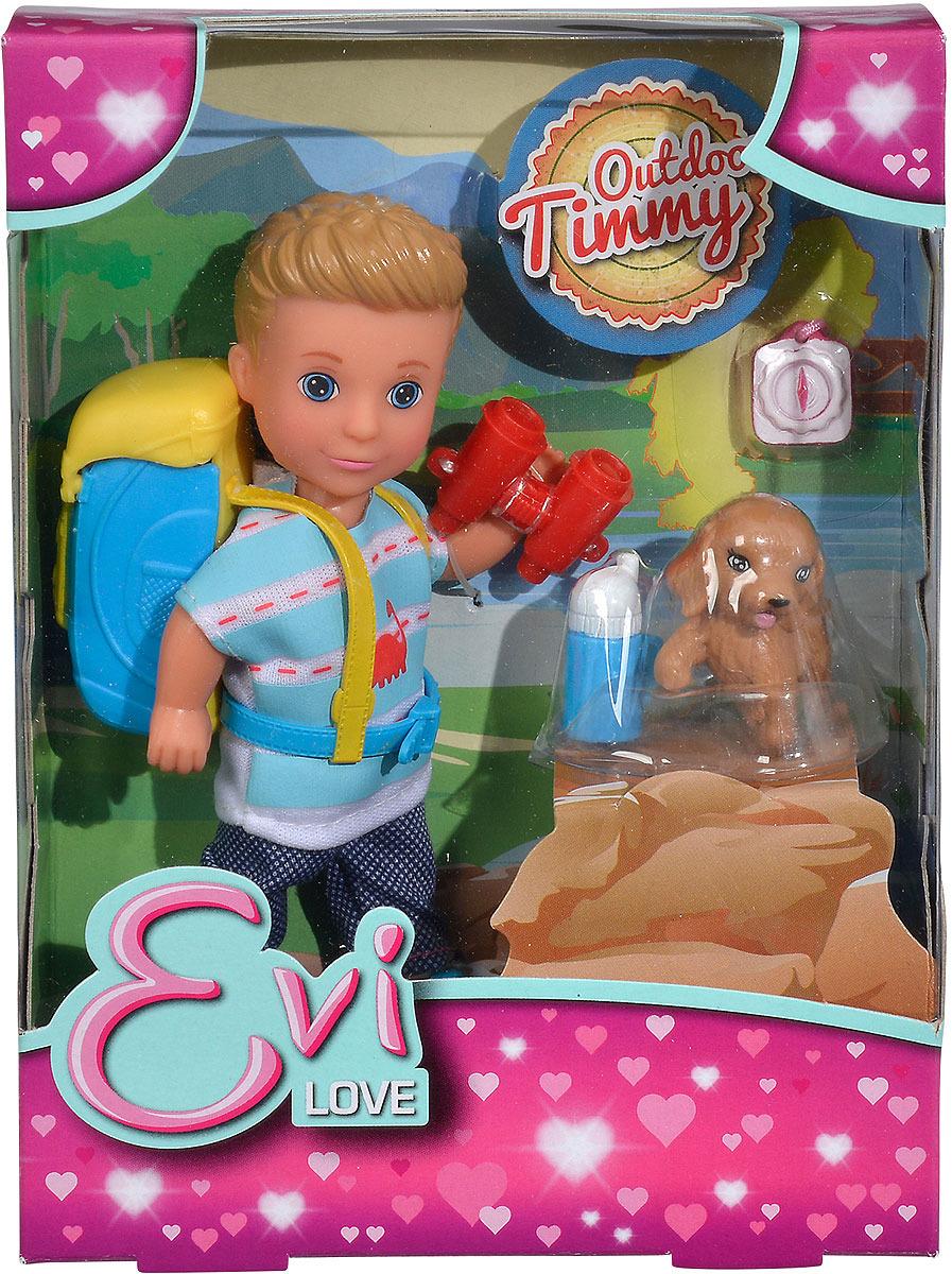Мини-кукла Simba Тимми5733230В комплект входит: кукла Тимми 12 см., рюкзак, собачка, бинокль, компас, бутылочка. Внимание! Возможно проглатывание мелких деталей. Использовать только под непосредственным наблюдением взрослых.