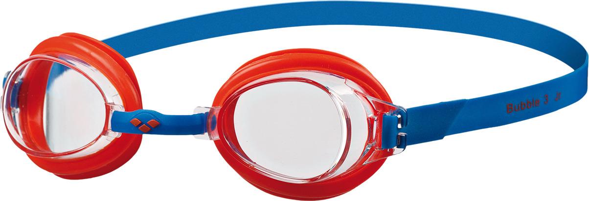цена на Очки для плавания детские Arena Bubble 3 Jr, цвет: синий, красный. 92395 74