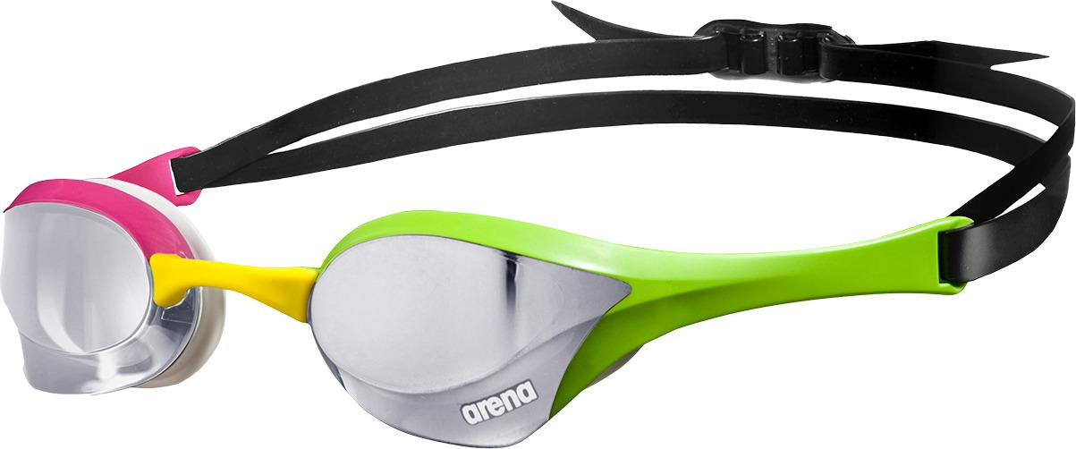 Очки для плавания Arena Cobra Ultra Mirror, цвет: серебристый, зеленый, розовый. 1E032 569 очки для плавания arena cobra ultra mirror цвет красный белый черный 1e032 11