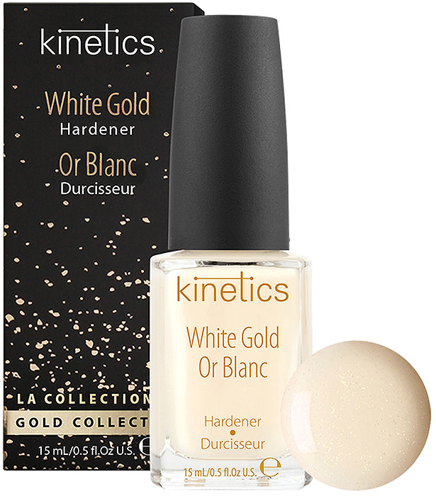 Укрепитель для ногтей Kinetics White Gold Hardener, 15 мл недорого