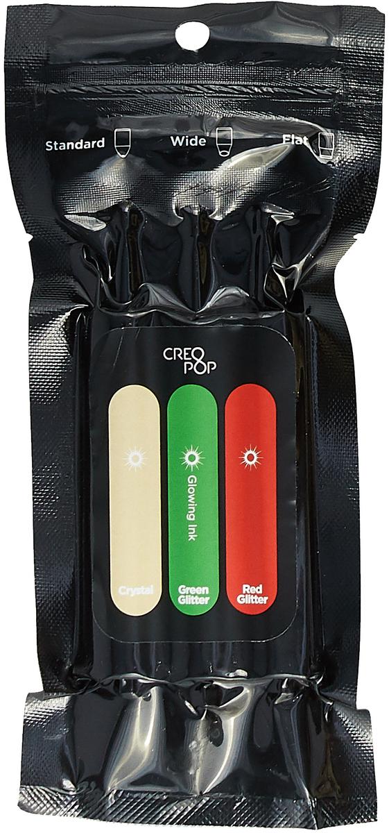 Чернила для 3D ручки CreoPop SKU007R, светящиеся в темноте, Green