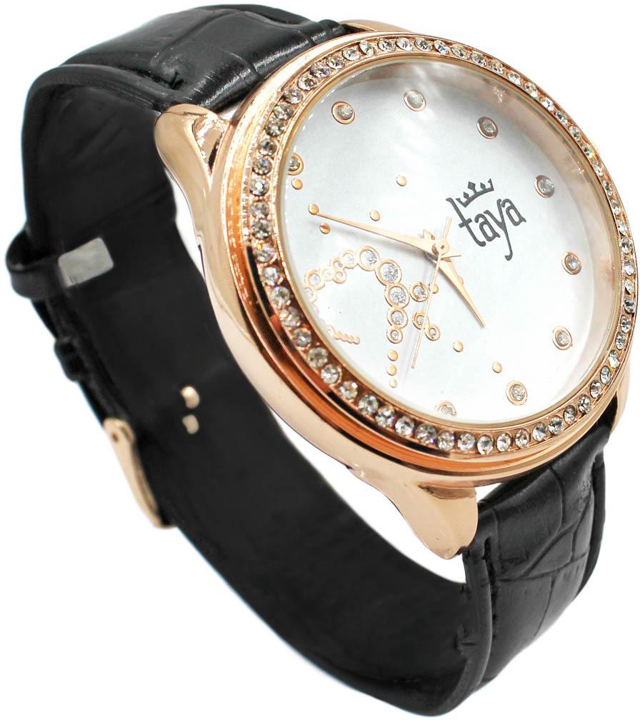 Часы наручные женские Taya, цвет: черный. T-W-0046-WATCH-GL.BLACK все цены