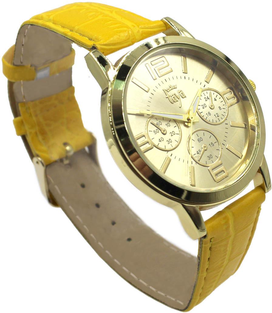 Часы наручные женские Taya, цвет: желтый. T-W-0056-WATCH-GL.YELLOW все цены