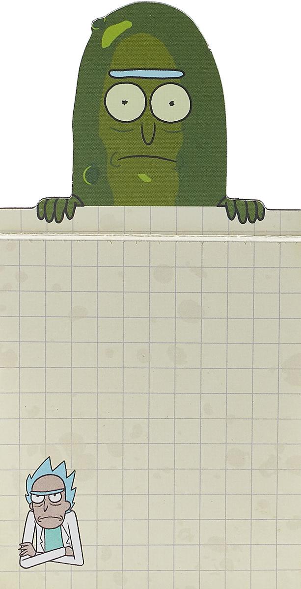 Блокнот на магните. Рик-огурчик свитшот женский с полной запечаткой printio огурчик рик рик и морти
