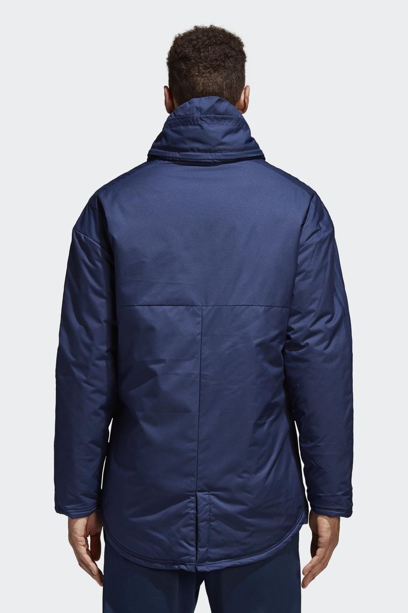Купить Куртка мужская Adidas Jkt18 Std Parka, цвет: голубой. CV8273. Размер L (52/54) на XWAP.SU