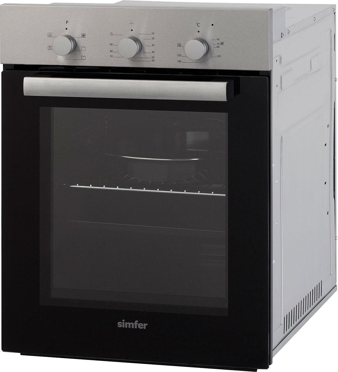 Духовой шкаф Simfer B4EM16012, встраиваемый, цвет: серебристый цена