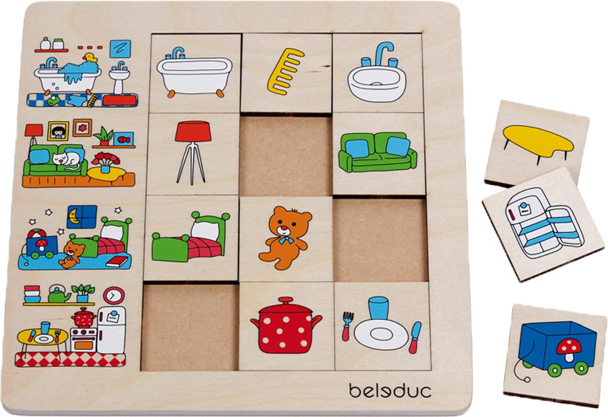 Beleduc Пазл для малышей Наш дом фантазер пазл для малышей дом и дерево цвет основы оранжевый