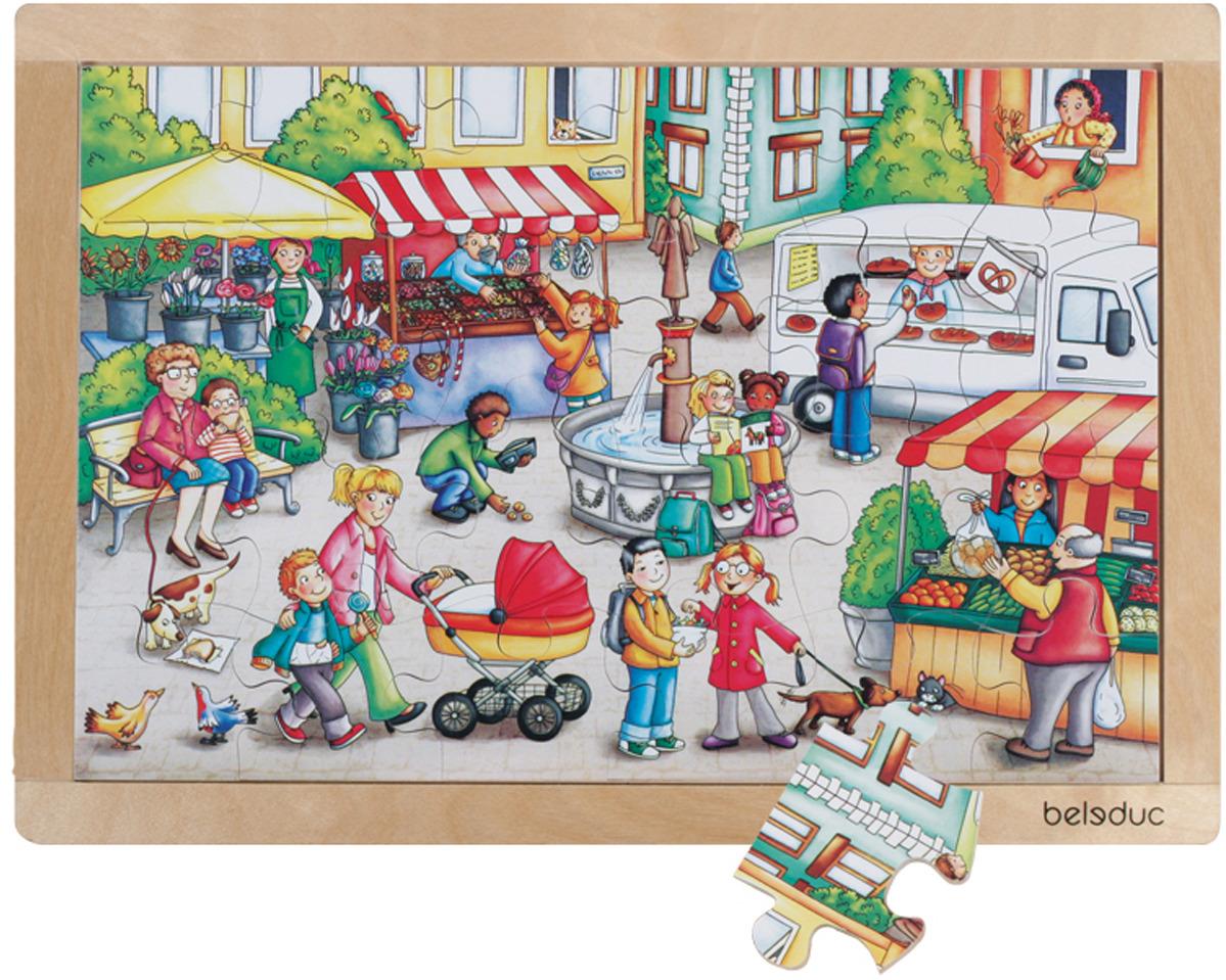 купить Beleduc Пазл для малышей Рынок по цене 2299 рублей