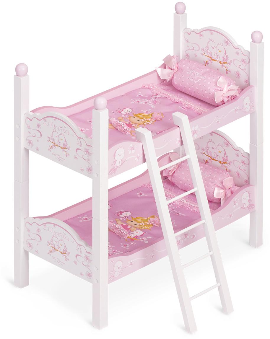 Мебель для кукол DeCuevas Мария. Кроватка двухъярусная, 57 см мебель для кукол мария кроватка двухъярусная