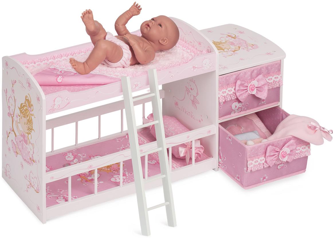 Мебель для кукол Мария. Кроватка двухъярусная мебель для кукол мария кроватка двухъярусная