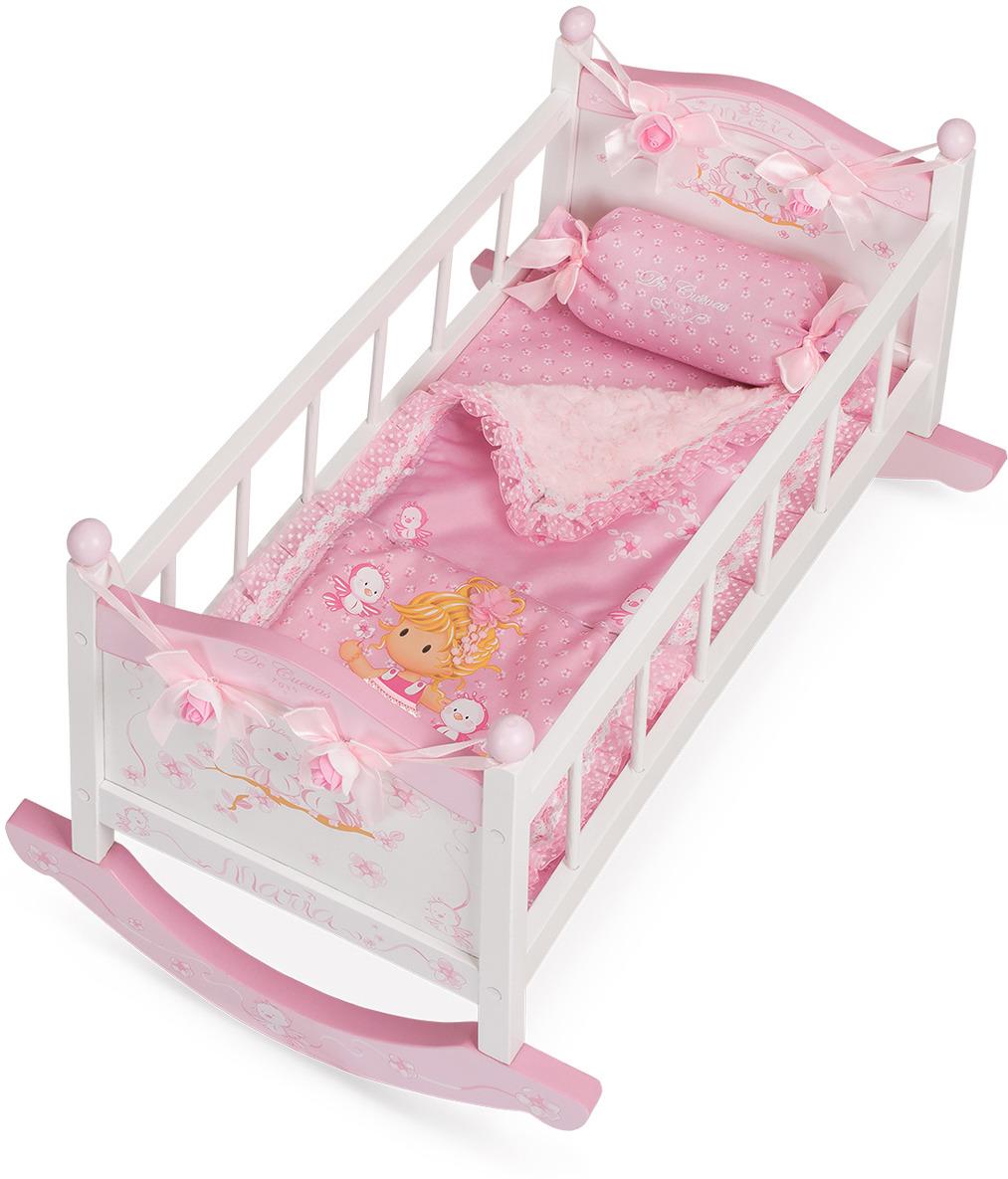 Мебель для кукол DeCuevas Мария. Кроватка-качалка кроватка качалка для кукол полесье кроватка качалка сборная для кукол 2