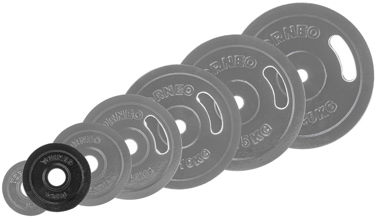 Диск для штанги Torneo, 1,25 кг. 1022-12 блин хромированный с резиновой вставкой 30 5 мм 20 кг torneo 1022 200x