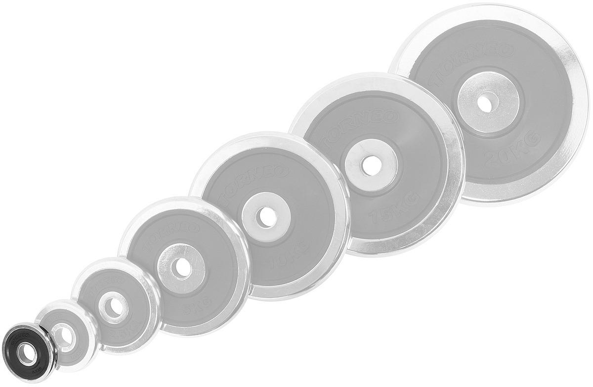 Диск для штанги Torneo, 0,5 кг. 1022-5X блин хромированный с резиновой вставкой 30 5 мм 20 кг torneo 1022 200x