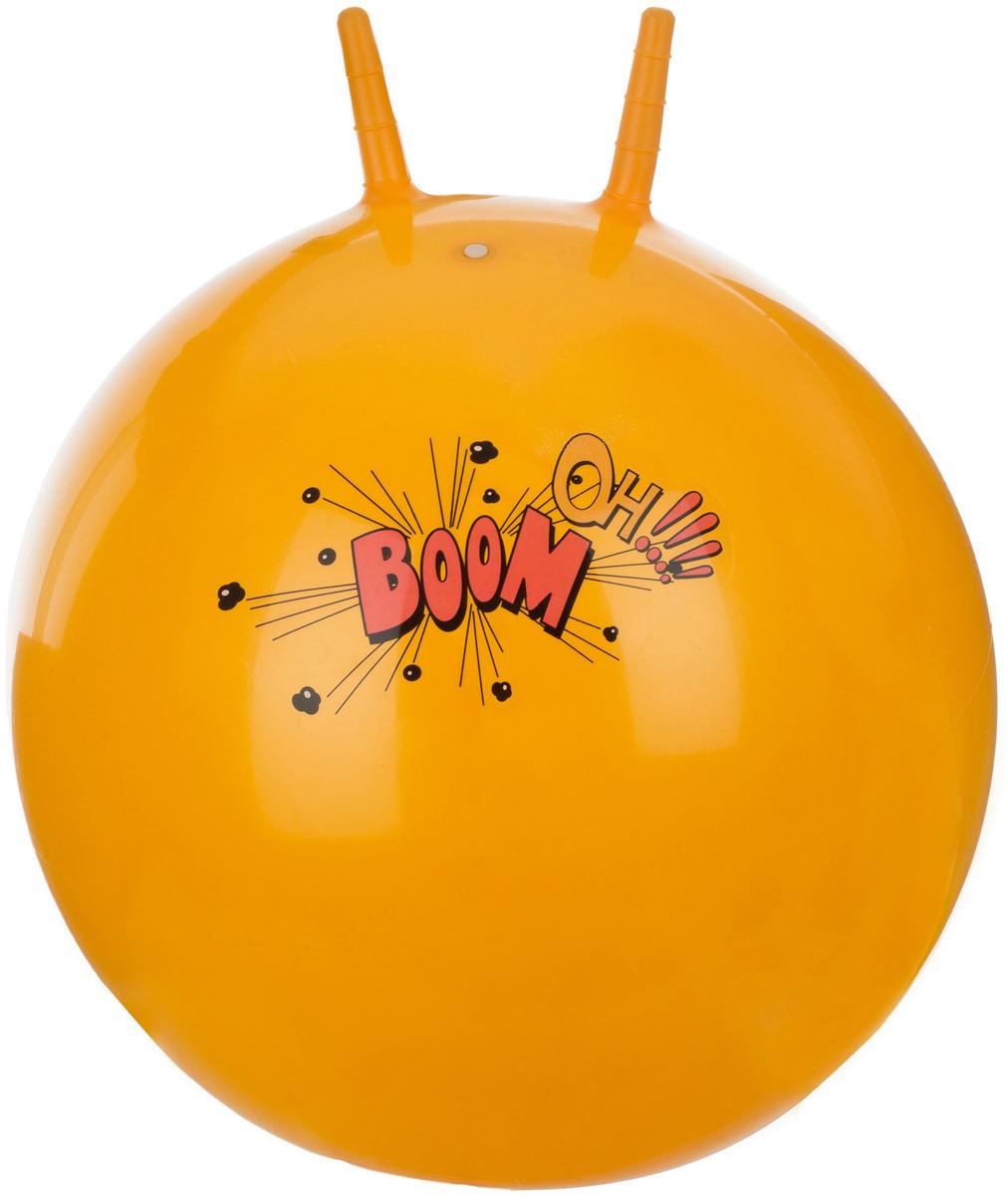 Мяч гимнастический Torneo, с насосом, цвет: оранжевый, 55 см мяч гимнастический indigo in001 цвет голубой диаметр 75 см