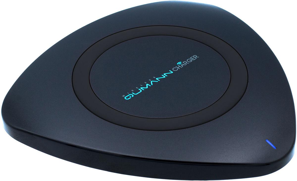 Беспроводное зарядное устройство Qumann QWC-01 Wireless Delta Qi Charger, Black red line qi 01 1a black беспроводное зарядное устройство