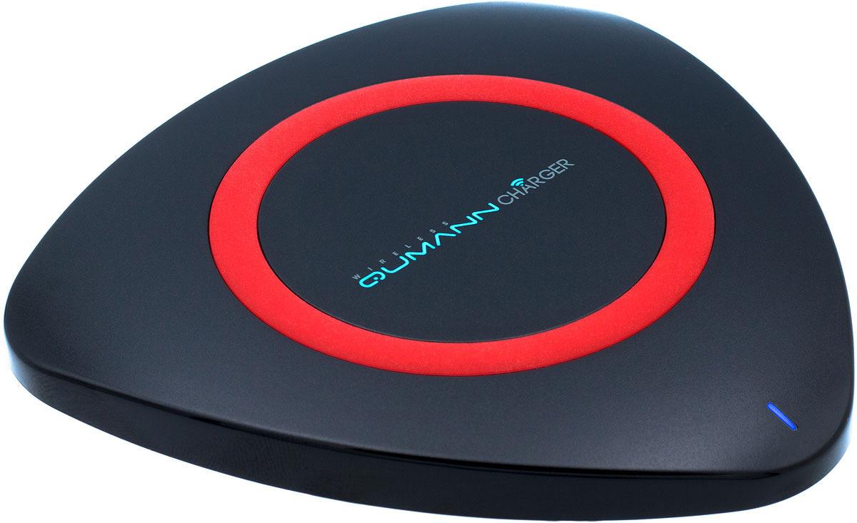 Беспроводное зарядное устройство Qumann QWC-01 Wireless Delta Qi Charger, Black Red red line qi 01 1a black беспроводное зарядное устройство