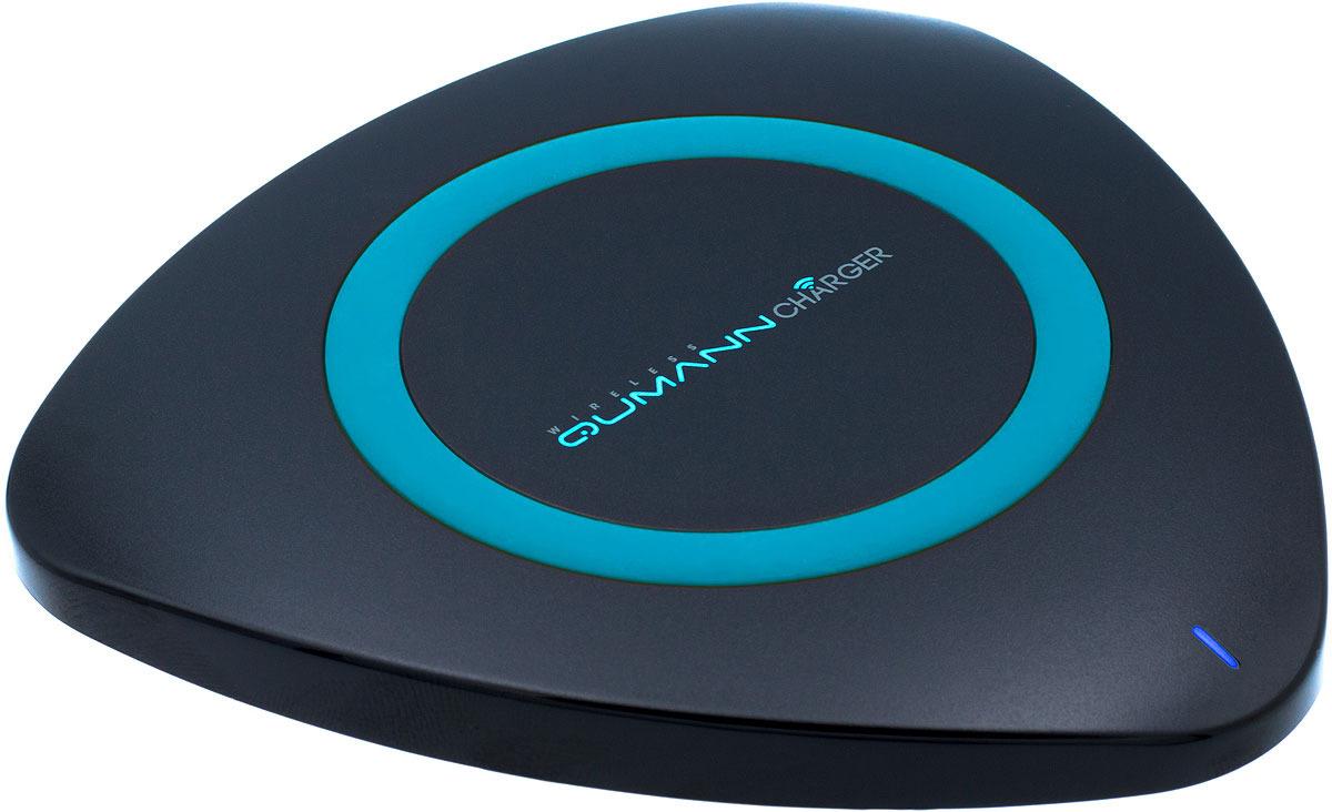 Беспроводное зарядное устройство Qumann QWC-01 Wireless Delta Qi Charger, Black Blue red line qi 01 1a black беспроводное зарядное устройство