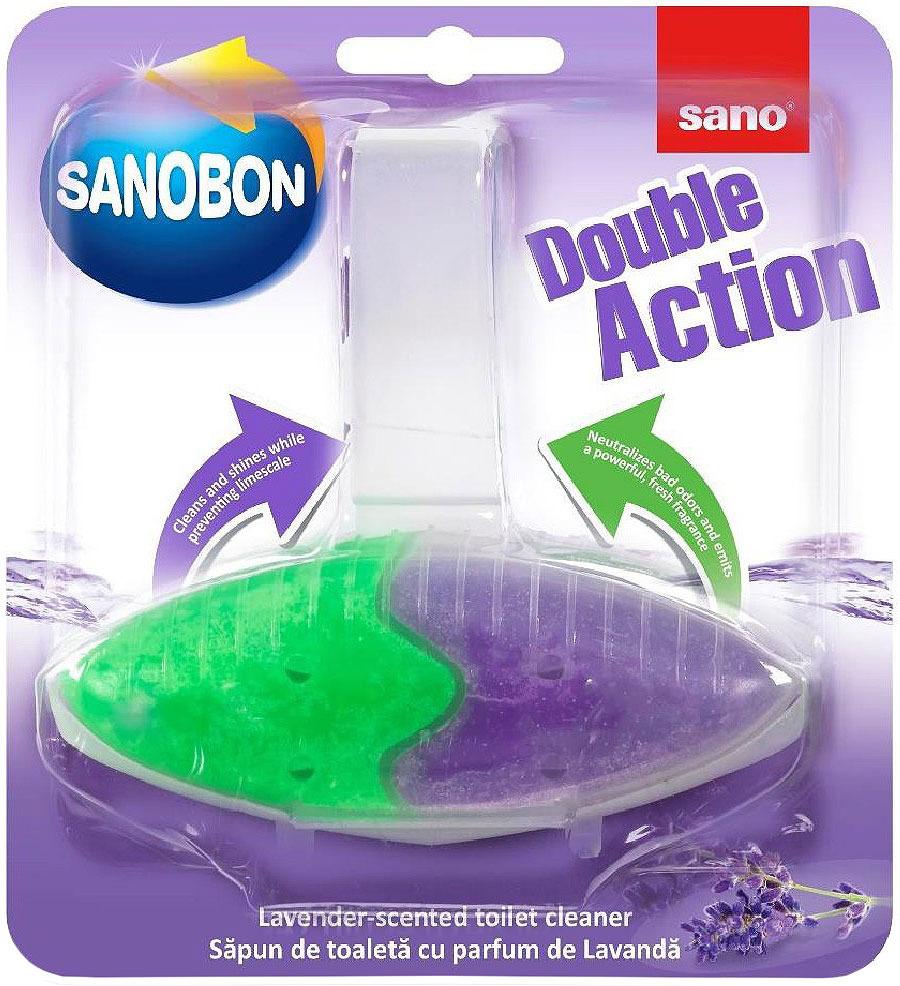 Подвеска для унитаза двойного действия Sano Sanobon Double Action Lavender, лаванда, 55 г подвеска для унитаза sano sanobon blue 55 г