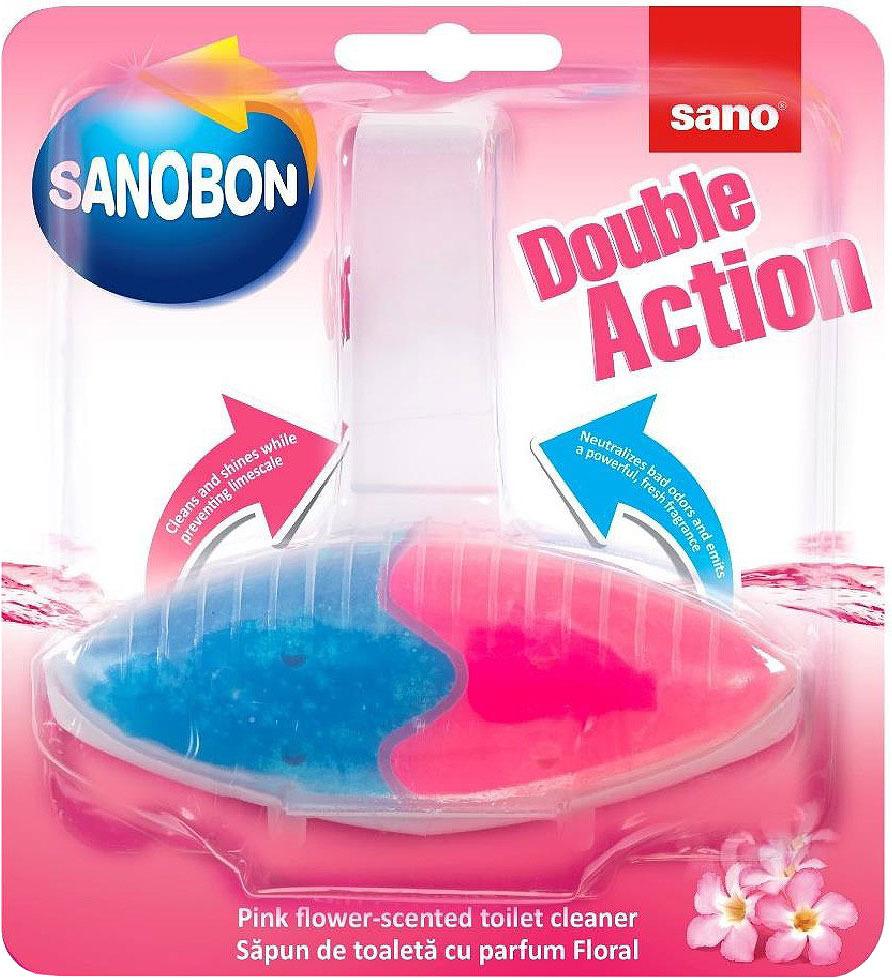 Подвеска для унитаза двойного действия Sano Sanobon Double Action Pink Flower, розовый цветок, 55 г 161 horizontal double potentiometer b100k flower stem mounting hole 9mm 20mm