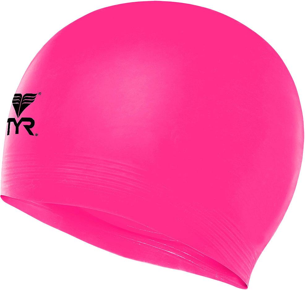 Шапочка для плавания TYR Latex Swim Cap, цвет: розовый шапочка для плавания tyr sdoc