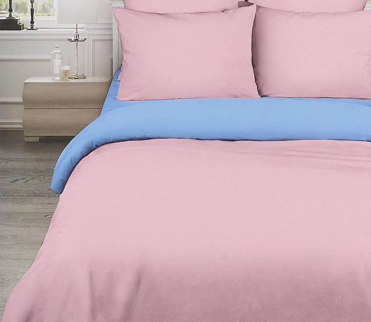 Комплект белья Василиса Розовый рассвет, 2-спальный, наволочки 70x70, цвет: разноцветный. 377/1 комплект белья василиса мятная дымка 1 5 спальный наволочки 70x70 цвет зеленый розовый 363