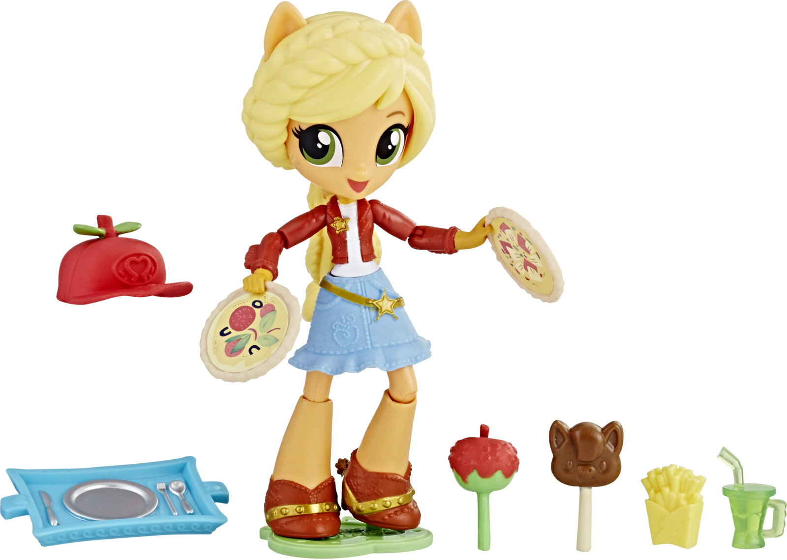 My Little Pony Equestria Girls Мини-кукла Applejack Snack Creations цена