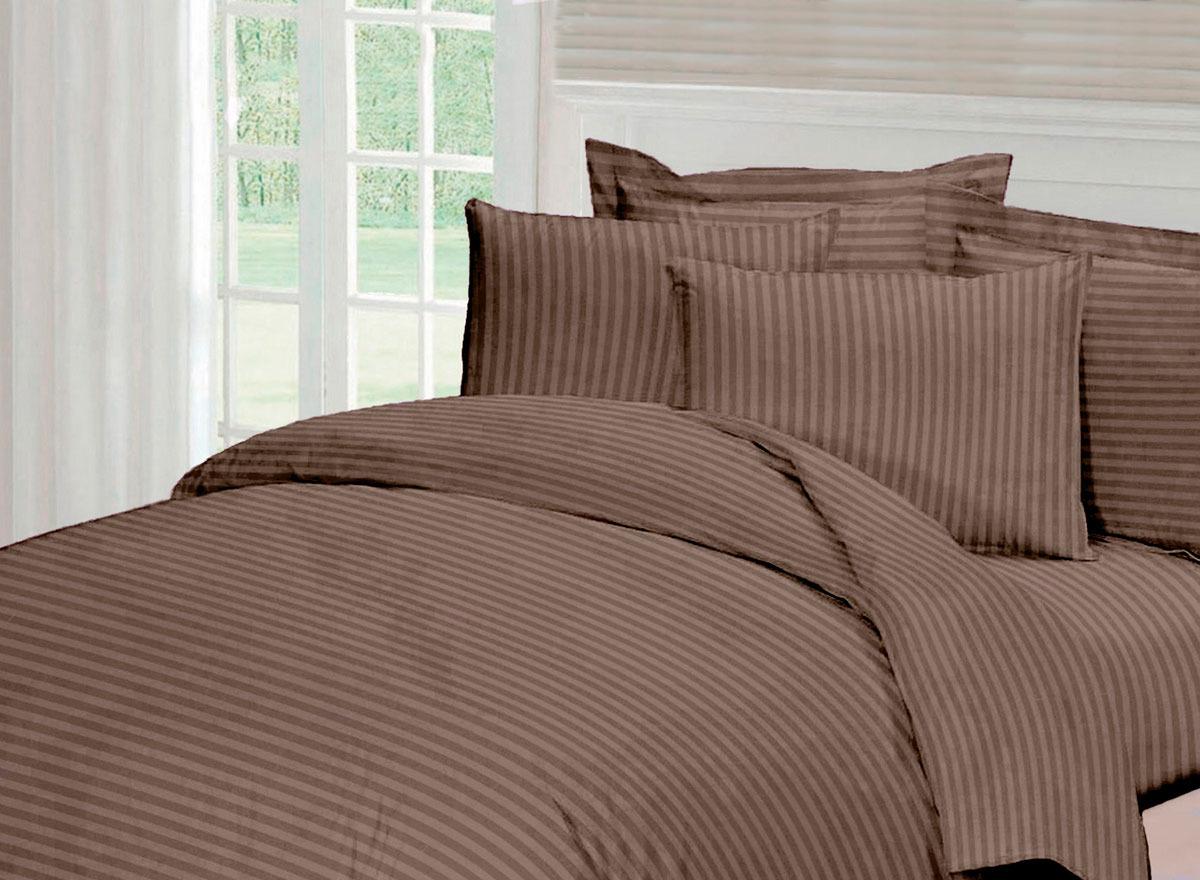 Комплект белья Tete-a-Tete Страйп, 1,5-спальный, наволочки 50x70, цвет: папирус комплект белья tete a tete алекто 2 спальный наволочки 50x70