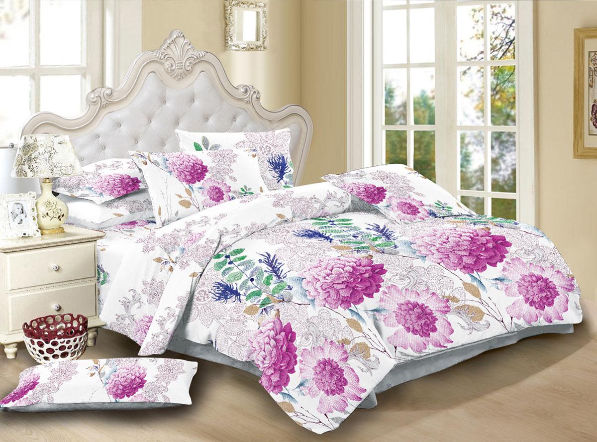Комплект белья ЭГО Леричи, 2-спальный, наволочки 70x70, цвет: разноцветный скатерть quelle эго 1024295 120х150