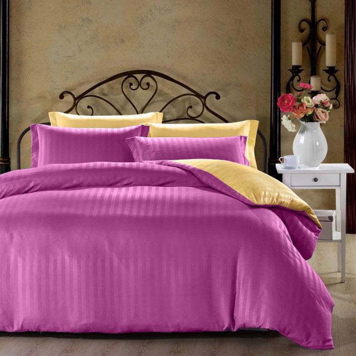 Комплект белья ЭГО Анжела, 1,5-спальный, наволочки 70x70, цвет: фуксия скатерть quelle эго 1024295 120х150