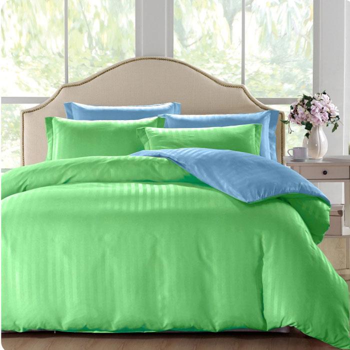 """Комплект белья ЭГО """"Микела"""", 1,5-спальный, наволочки 70x70, цвет: зеленый"""