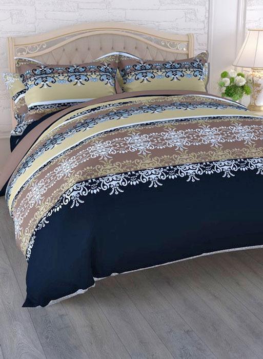 """Комплект белья ЭГО """"Прелюдия"""", 1,5-спальный, наволочки 70x70, цвет: бежевый"""