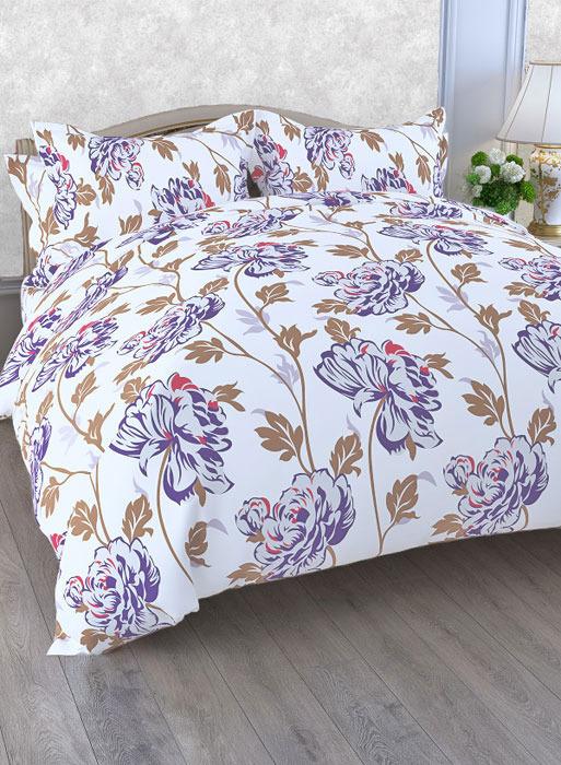 Комплект белья ЭГО Рондо, 1,5-спальный, наволочки 70x70, цвет: сиреневый скатерть quelle эго 1024295 120х150